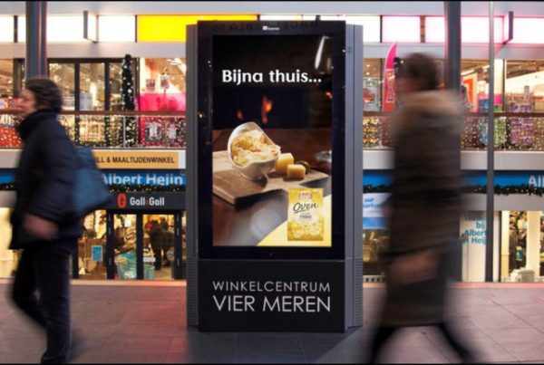 digital Out of Home winkelcentrum