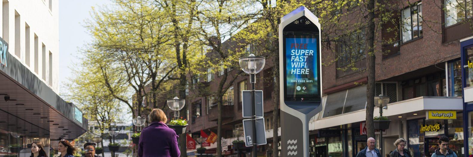 Nieuwe digitale schermen in hartje Eindhoven