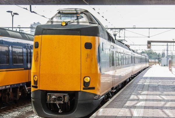 Reclame in NS treinen