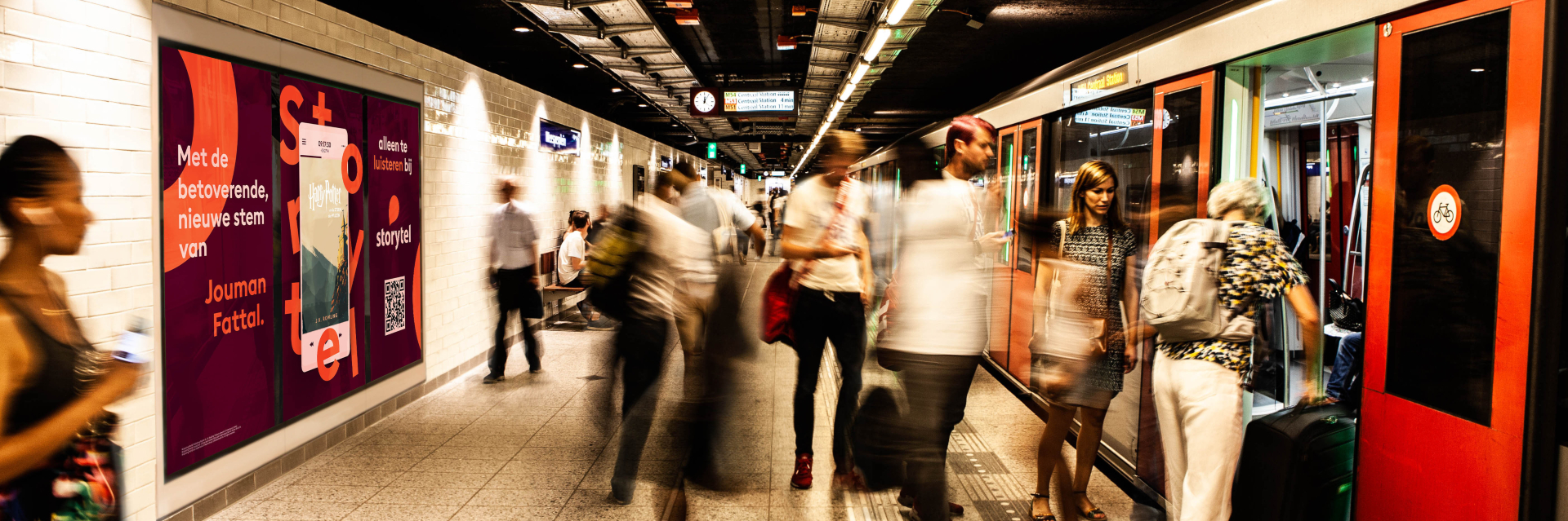 CS Digital Media, Y Media Generation en Storytel brengen audio op metrostations in Amsterdam