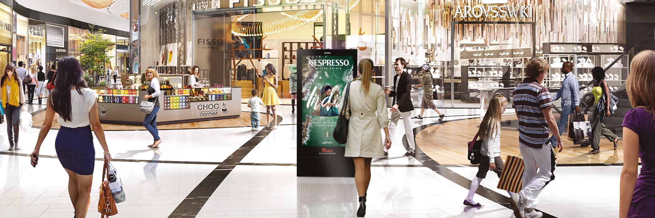 Nieuwe schermen Westfield Mall of the Netherlands